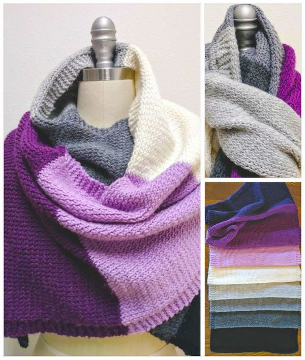Knitting pattern for a fall/winter wrap